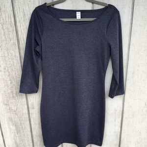 Old Navy 3/4 Sleeve Charcoal gray Knit dress Med